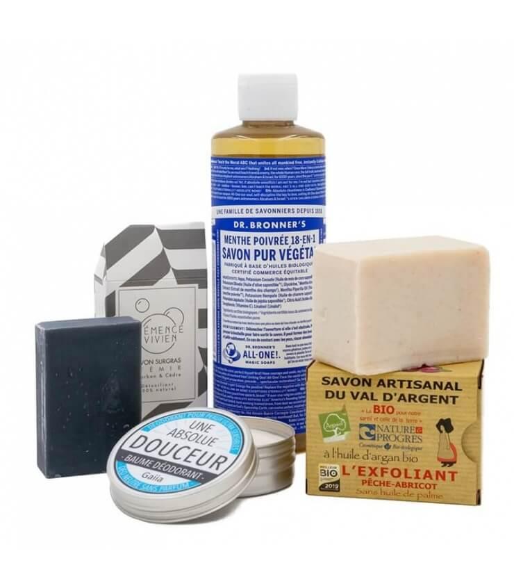 Coffret Higiène et cosmétiques naturels pour Homme - Savonne Moi !