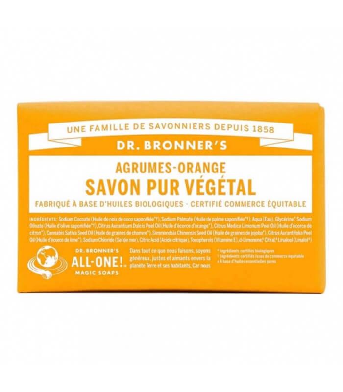 Savon pur végétal Agrumes Orange - Dr Bronner's