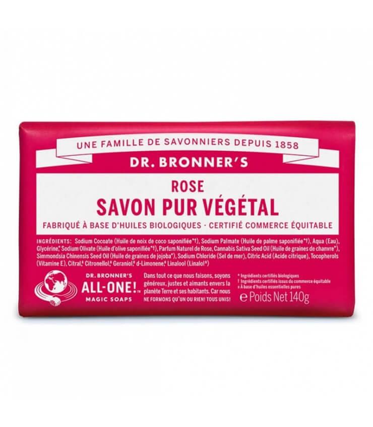 Savon pur végétal à la Rose Dr Bronner's