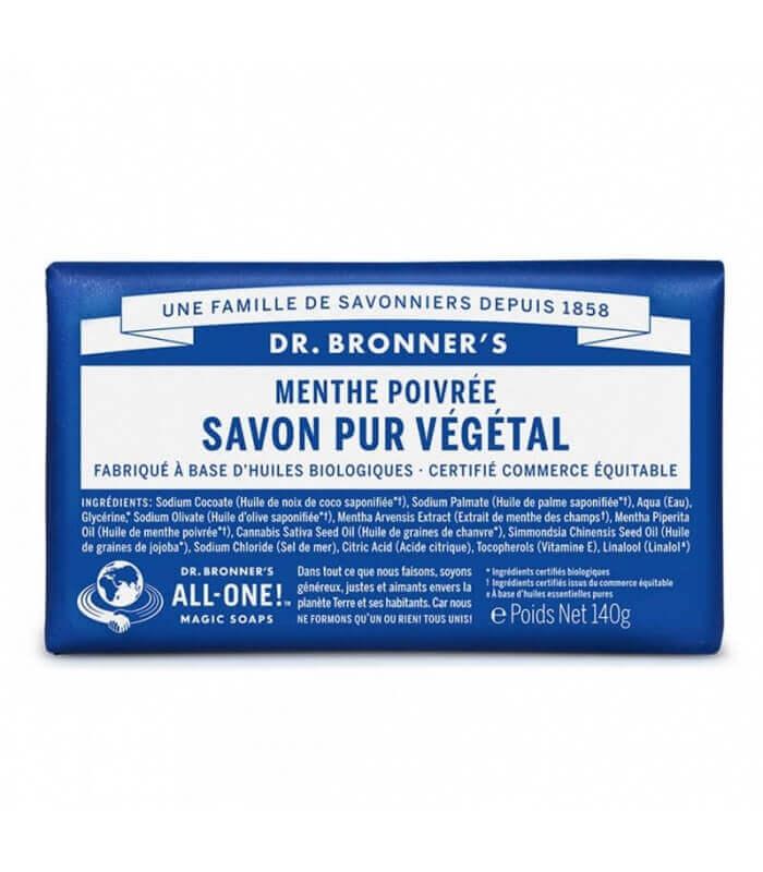 Savon pur végétal Menthe Poivrée - Dr Bronner's