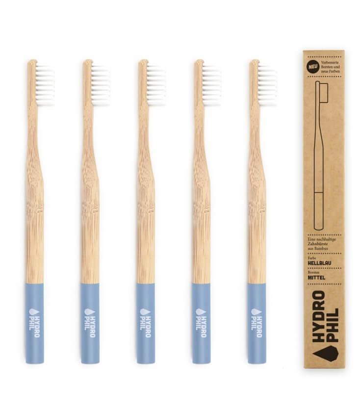 Brosse à dents Bambou Bleu Medium bleu - Hydrophil