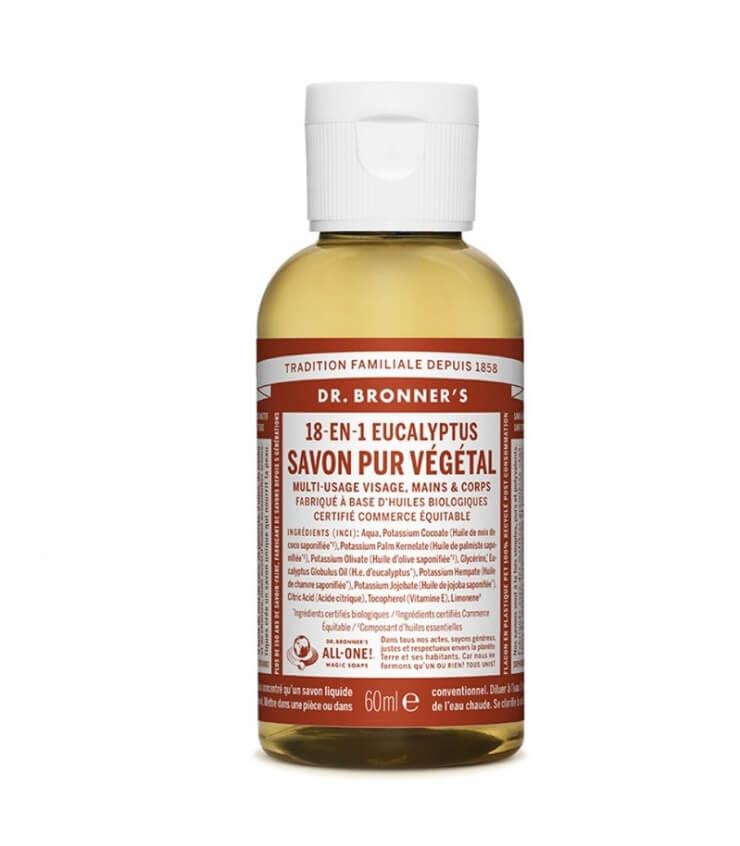 Savon liquide Eucalyptus 18-1 Dr Bronner's 60ml