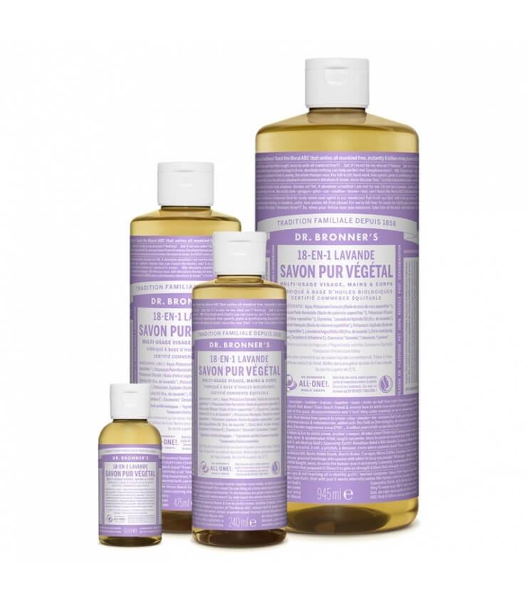 Savon liquide Lavande 18-1 Dr Bronner's