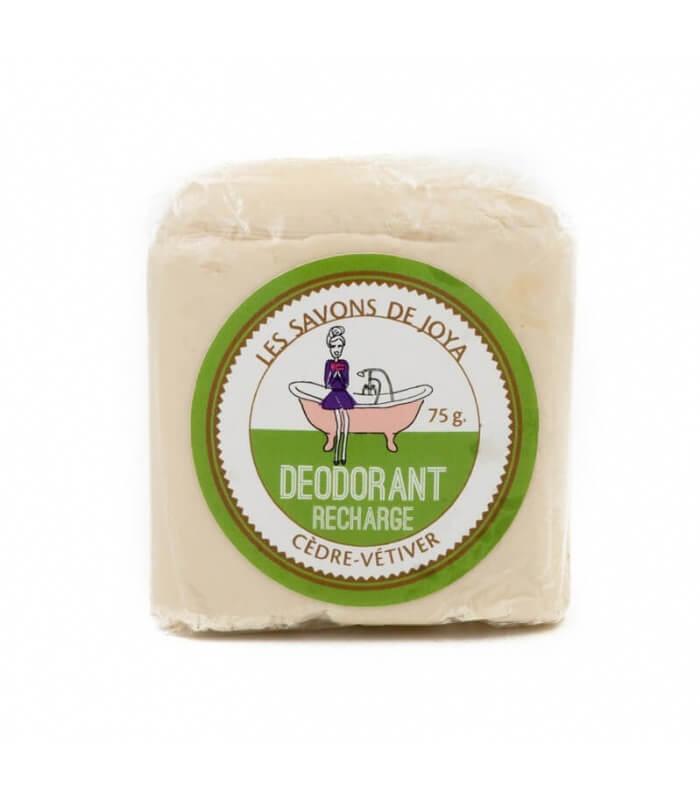 Recharge stick déodorant - Cédre Vétiver - Les savons de Joya