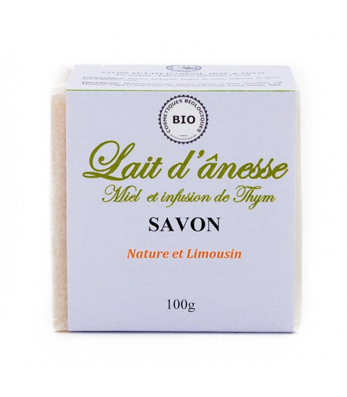 Savon Lait d'Ânesse Miel, Thym - Nature et Limousin