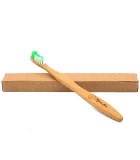 Brosse à dents Bambou Enfant Verte