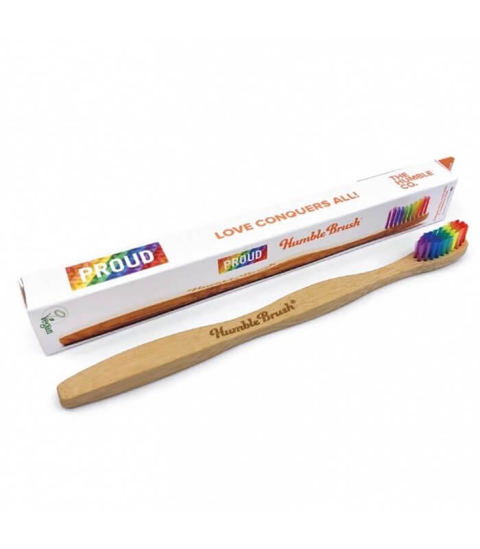 Brosse à dents bambou Arc en ciel - The Humble Co.