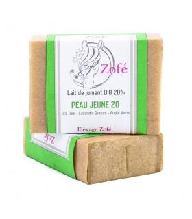 Savon Peau Jeune 20% Lait de Jument - savonnerie Zofé