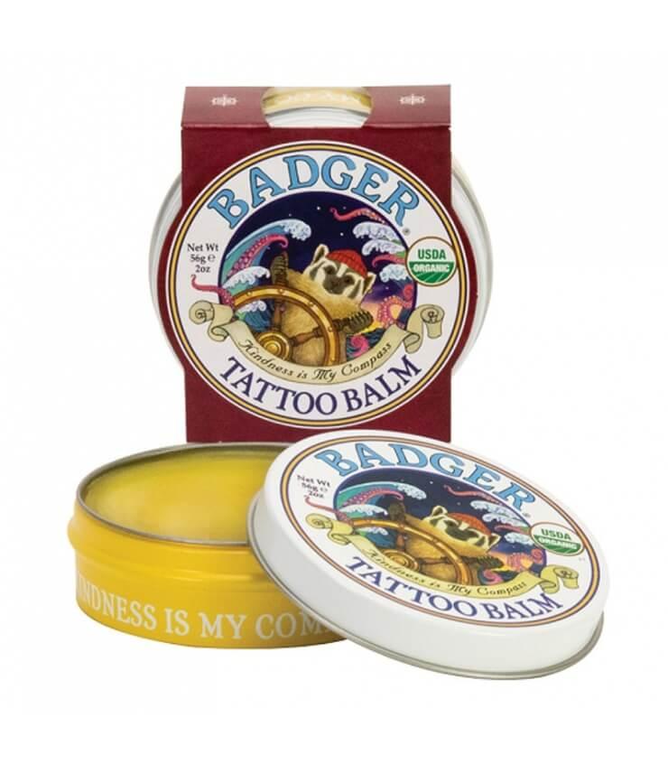 Baume Tattoo Balm pour peaux sèches - Badger Balm