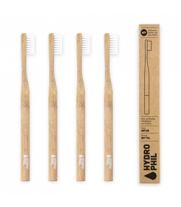 Brosse à dents Bambou Medium naturelle - Hydrophil