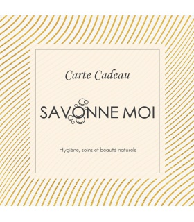 Carte Cadeau - Cosmétique hygiène soin naturel et Bio - Code Promo Savonne Moi