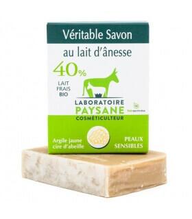 Savon Argile jaune 40% lait d'ânesse - Laboratoire Paysane