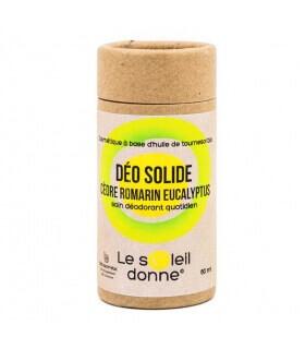 Déodorant Solide en Stick Cèdre Romarin - Soleil Donne (Laboratoire Paysane)