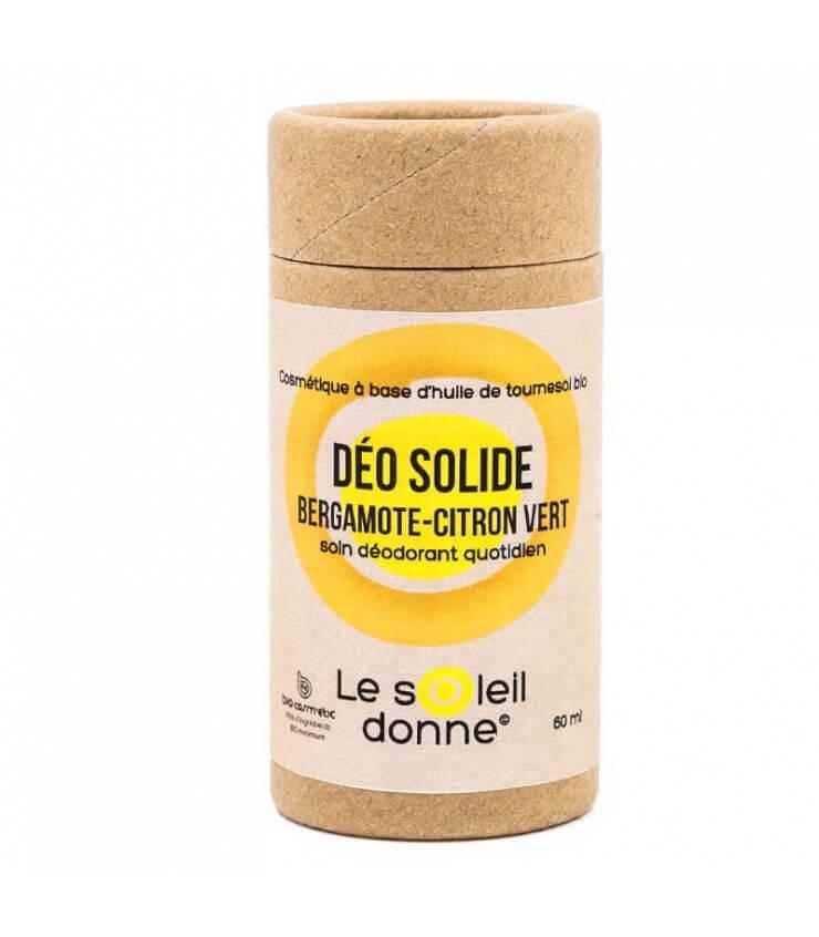 Déodorant Solide en Stick Citron Bergamote - Soleil Donne (Laboratoire Paysane)