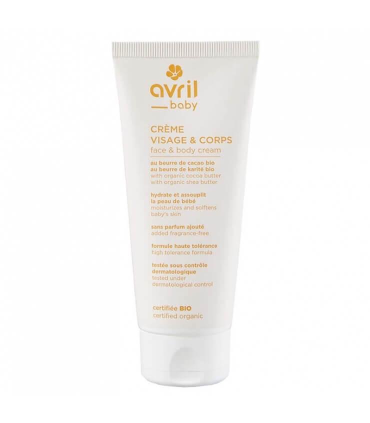 Crème visage & corps bébé Bio - Avril cosmétique Bio