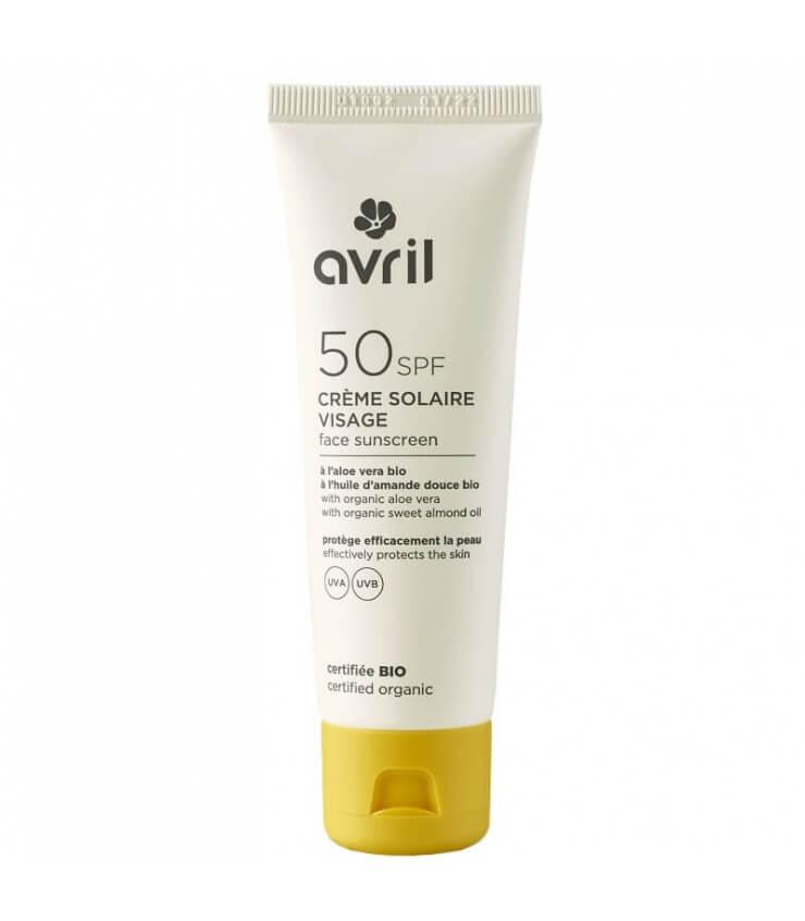 Crème Solaire Visage SPF 50 - Avril Bio