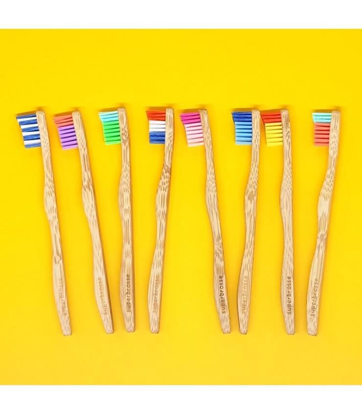 Brosse à dents Enfant en Bambou Moso - Superbrosse