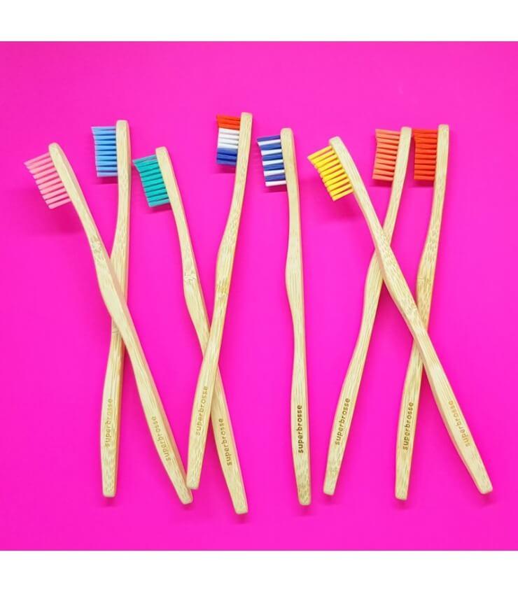 Brosse à dents Adulte en Bambou - Superbrosse