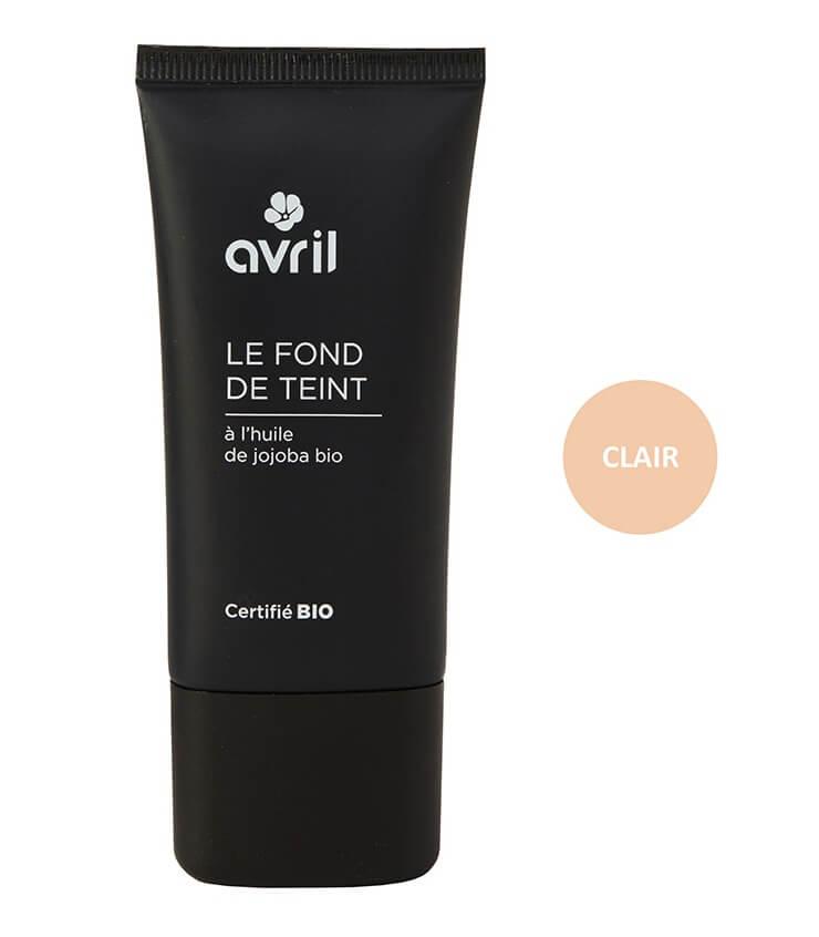 Fond de teint Certifié bio - Clair - Maquillage Bio Avril