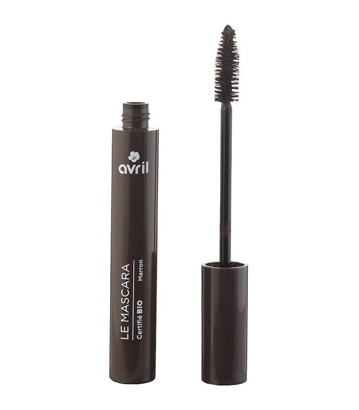 Mascara longue tenue Marron Certifié bio - Maquillage Avril