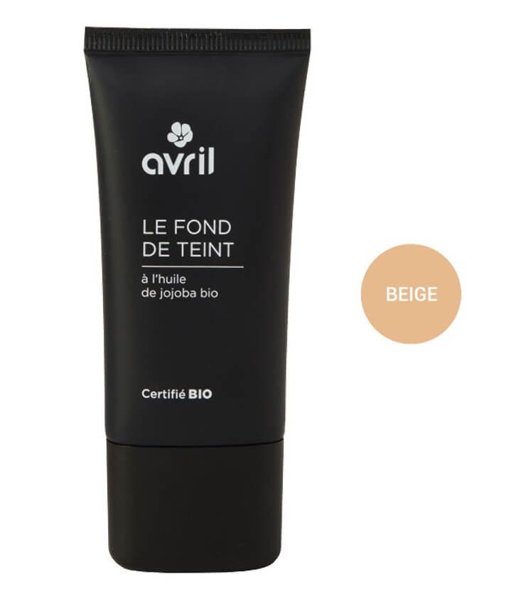 Fond de teint Certifié bio - Beige - Maquillage Bio Avril