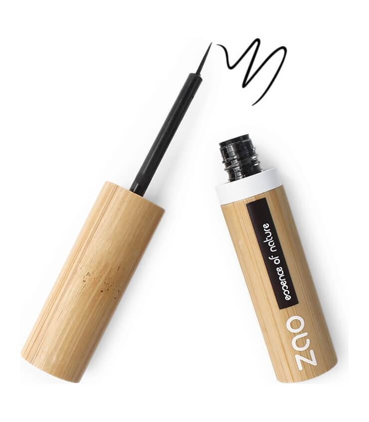 Eyeliner Pinceau Bio et Vegan - noir intense 070 - Zao Make-up maquillage