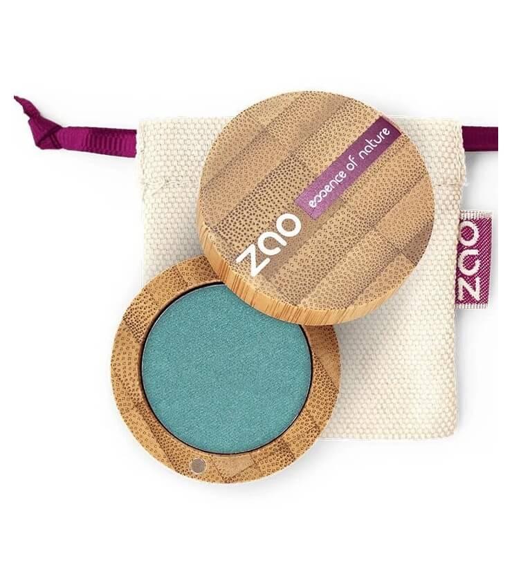 Fard à paupière Bio et Vegan - 127 Bleu Paon - Zao Make-up
