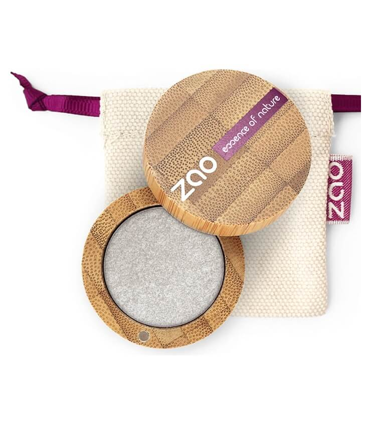Fard à paupière Bio et Vegan - 114 Argent - Zao Make-up