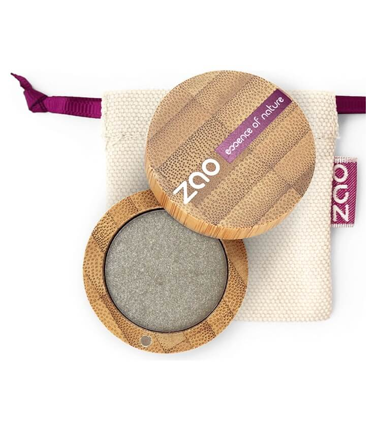 Fard à paupière Bio et Vegan - 108 Gris Vert - Zao Make-up