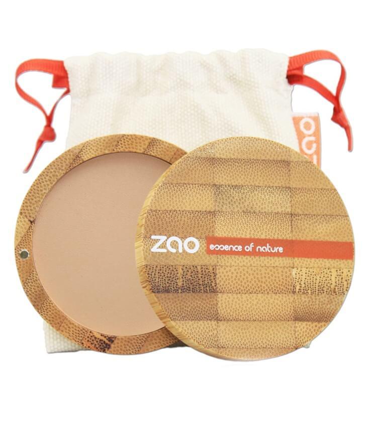 Poudre compacte Bio et Vegan - 303 brun beige - Zao Maquillage