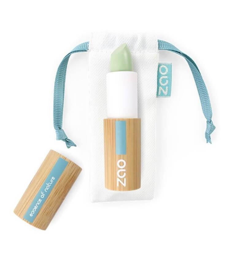 Correcteur Anti-Rougeurs en Stick Bio - 499 vert - Zao maquillage