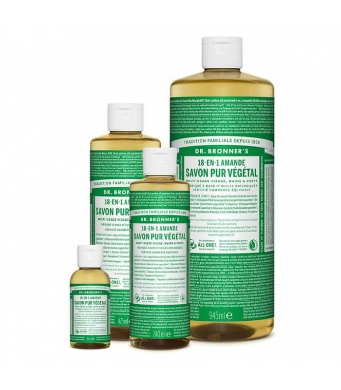 Savon liquide Amande 18-1 Dr Bronner's