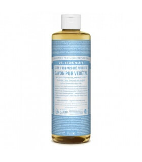 Savon liquide non parfumé 18-1 Dr Bronner's 475ml