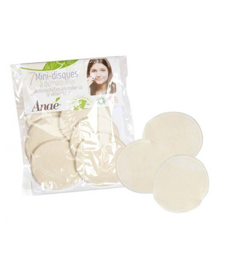 7 Mini Disques à Démaquiller Lavables - Anae