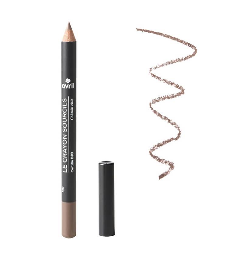 Crayon sourcils Certifié Bio - Châtain clair - Avril