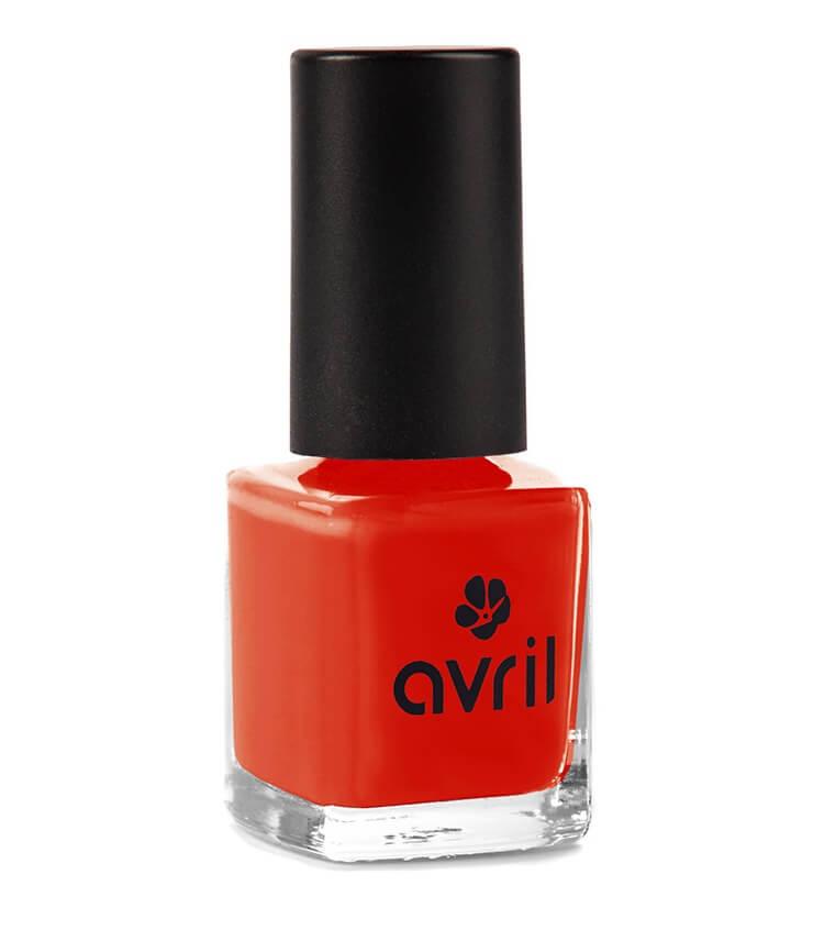 Vernis à ongles Certifié bio - Coquelicot - Avril