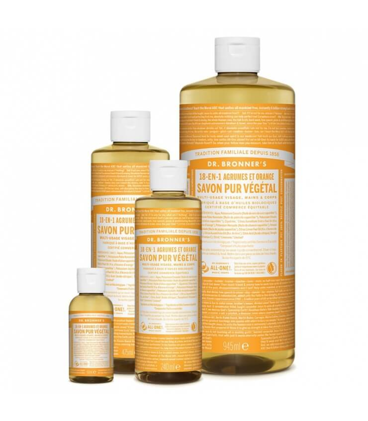Savon liquide Agrumes-Orange 18-1 Dr Bronner's - 945 ml