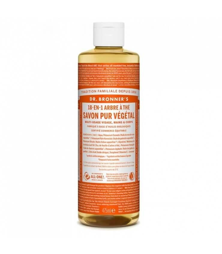 Savon liquide Arbre à Thé 18-1 Dr Bronner's475ml