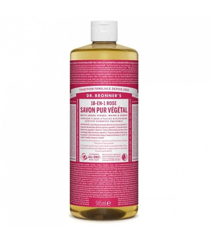Savon liquide Rose 18-1 Dr Bronner's 945ml