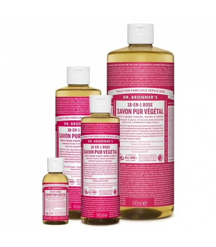 Savon liquide Rose 18-1 Dr Bronner's