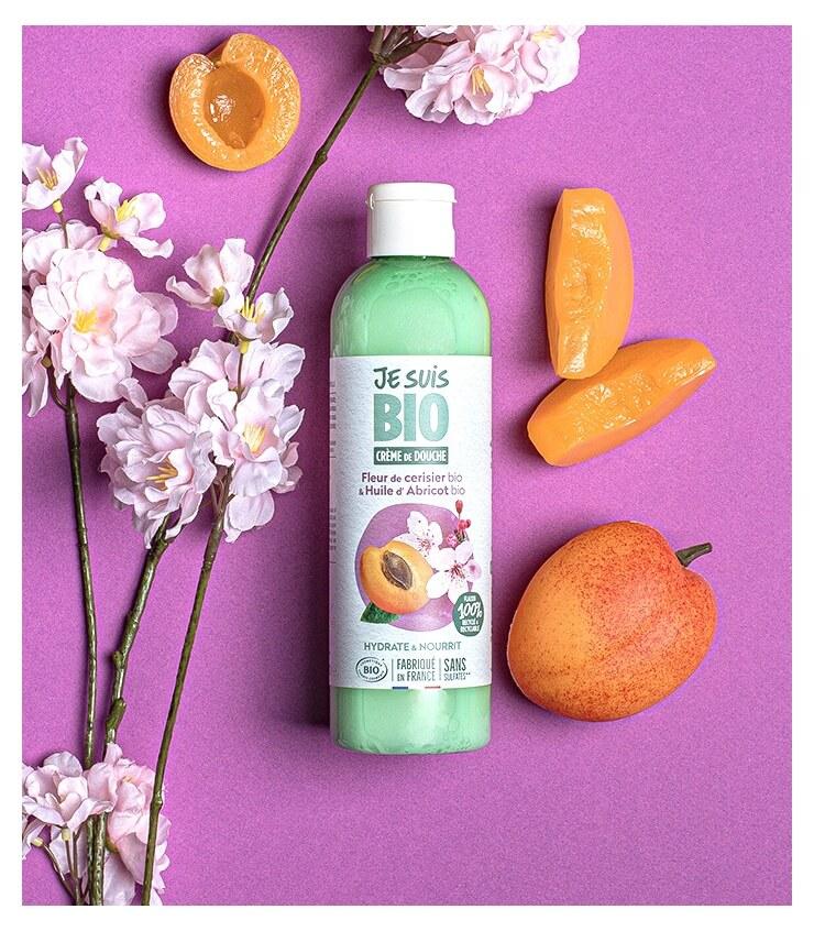 Crème de douche Bio Fleur de Ceiriser Abricot - Je Suis Bio