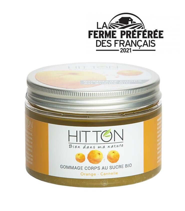 Gommage corps au sucre Orange Cannelle - La Ferme de Hitton