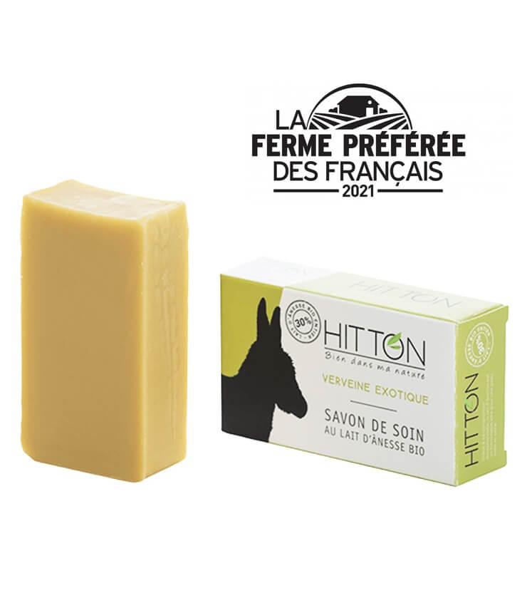 Savon à froid au lait d'anesse Bio Verveine exotique 100g - La Ferme Hitton (Gers)