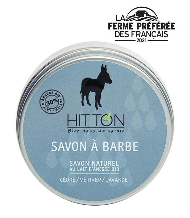 Savon à froid au lait d'anesse Bio à Barbe - La Ferme Hitton (Gers)