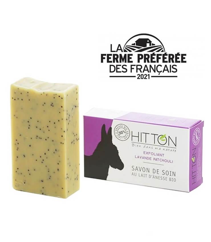Savon Exfoliant avec 30% lait d'Ânesse - La Ferme du Hitton