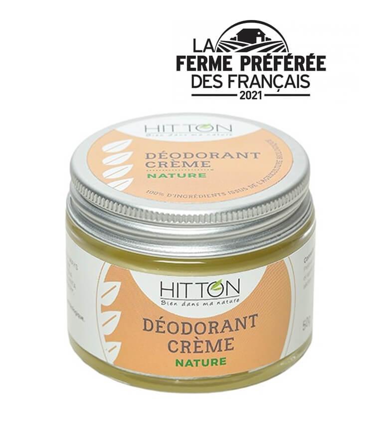 Déodorant crème naturel au lait d'ânesse - La Ferme du Hitton