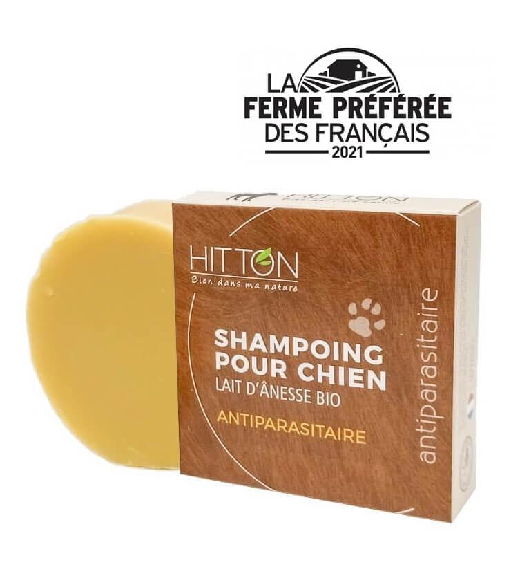 Savon shampoing bio à froid au lait d'anesse Bio pour Chien - La Ferme Hitton (Gers)
