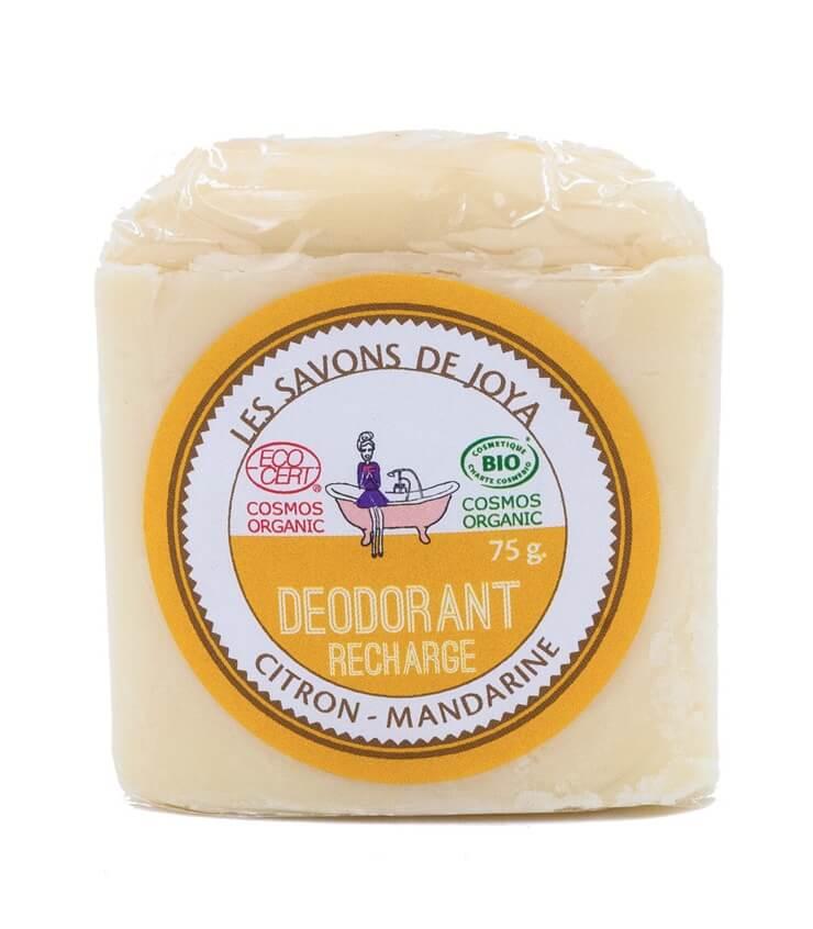 Recharge stick déodorant Citron Mandarine - Savons de Joya