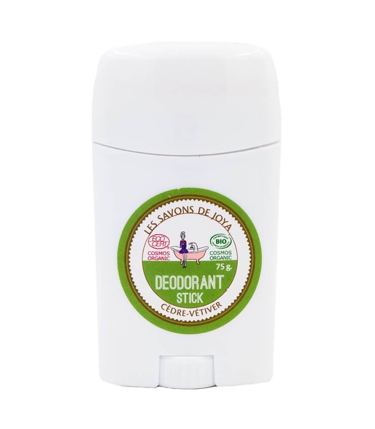 Déodorant stick Cédre Vétiver - Les savons de Joya