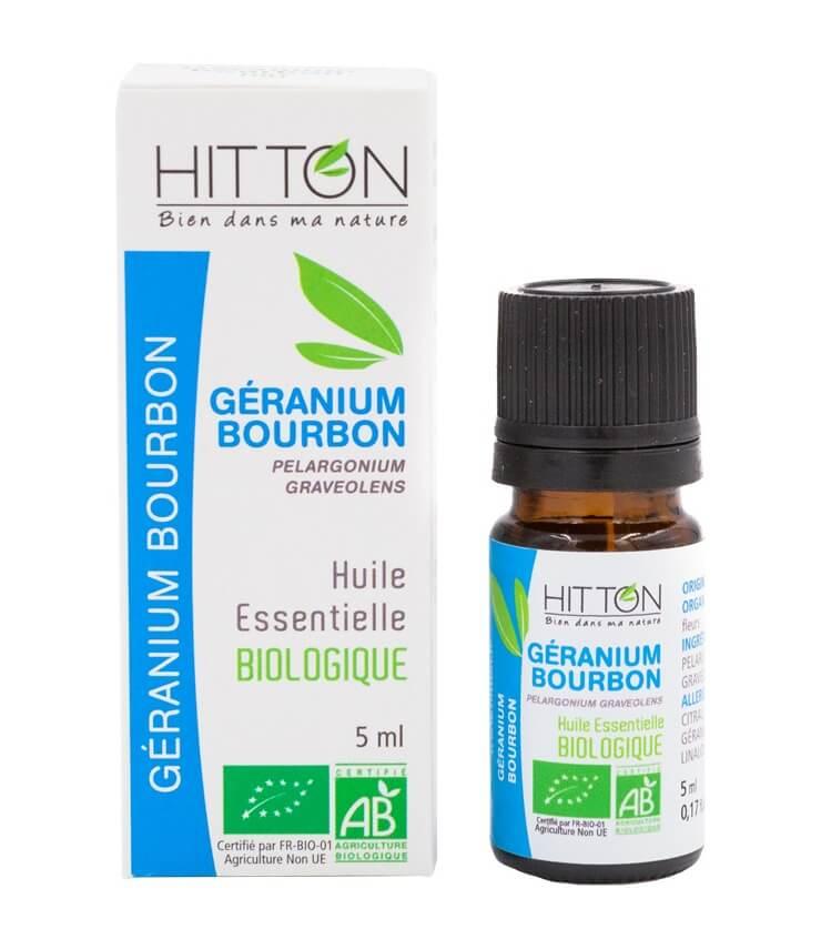 Huile Essentielle Géranium Bourbon Bio - Ferme du Hitton Gers